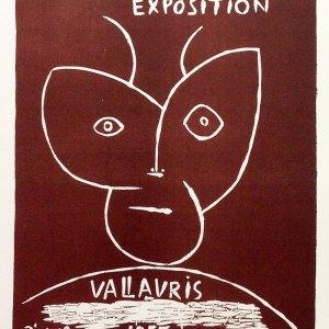 Picasso Lithograph 76, Expo Vallaris 1955, Mourlot