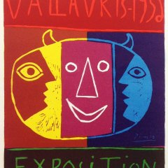 "Picasso 80 ""Vallaris Exposition 1956"" printed 1959 by Mourlot"