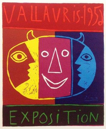 Picasso Lithograph 80, Vallaris Exposition 1956