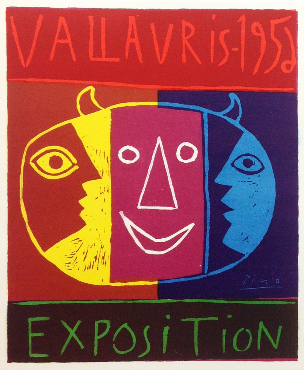 """Picasso 80 """"Vallaris Exposition 1956"""" printed 1959 by Mourlot"""