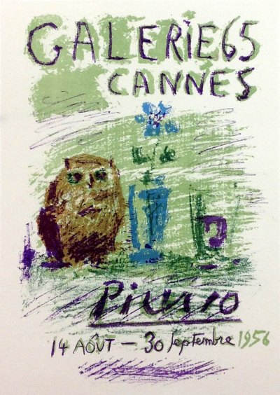 "Picasso 78 ""expo Picasso-gallery-65-Cannes"" 1959 by Mourlot"