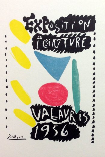Picasso Lithograph 81, Valauris 1956, Art in posters