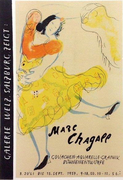 "Chagall 23 ""Galerie Weltz Salzburg"" Art in posters Mourlot 1959"