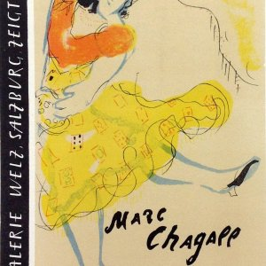 Chagall Lithograph 23, Galerie Weltz, Art in posters