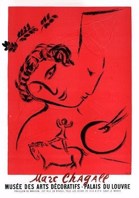 "Chagall 99 ""Musee des arts decoratifs"" Art in posters Mourlot 1959"