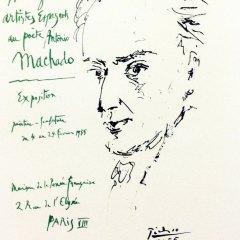 "Picasso 73 ""hommage to antonio-machado""1959 by Mourlot"