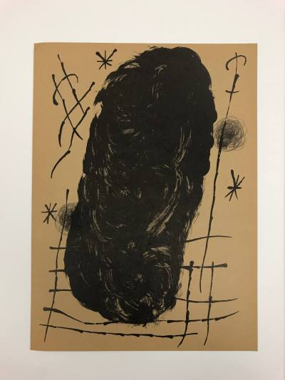 "Joan Miro Original Lithograph ""DM18151"" 1970"