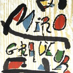 Book Miro Engraver vol 1,  Contains  3 woodcuts 1984,Abstract,  Surrealism ,