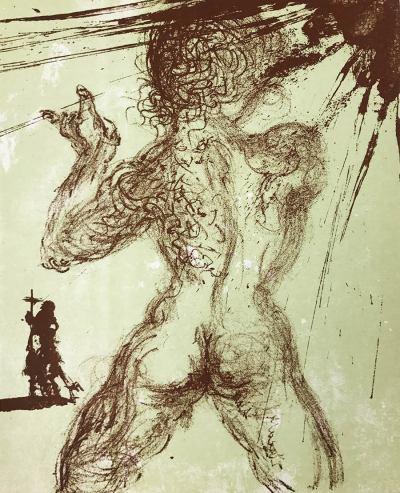 "Dali Original Lithograph ""Le Pecheur"" Meissonier printed 1967"