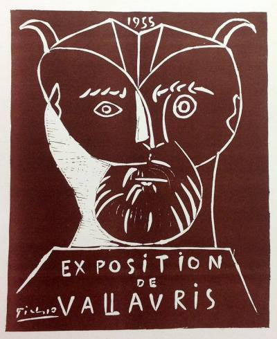 "Picasso 75 Lithographs- Vallauris 1955"" 1959 Mourlot Art in posters"