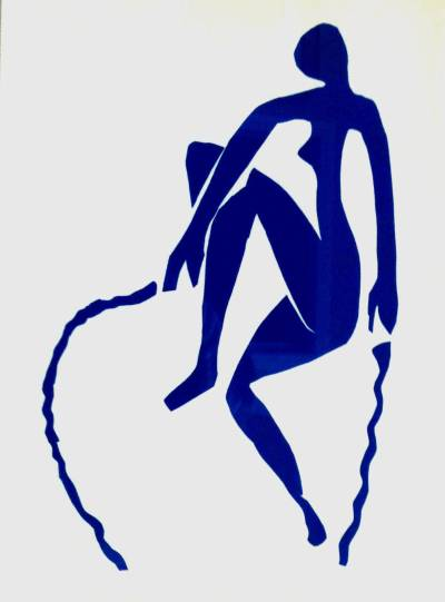 """Henri Matisse """"Blue nude jumping a rope"""" printed 1983"""