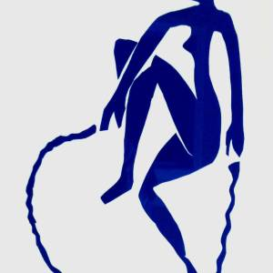 Henri Matisse lithograph jumping a rope, 1984