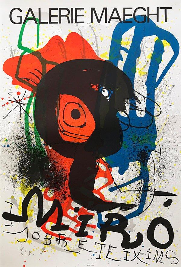 "Miro ""Sobretexim"" Poster Original Lithograph size 22 x 33"""