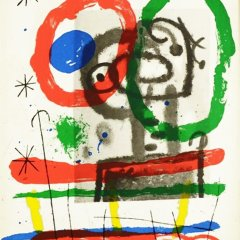 "Joan Miro Original Lithograph ""DM06151"" printed 1970"