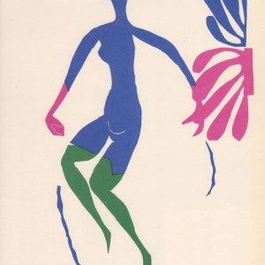 Henri Matisse lithograph, Au bas verts 1984