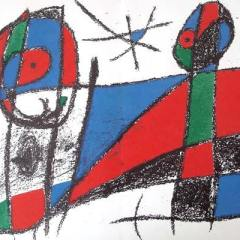 "Miro Original Lithograph ""V2-6"" size 12.50 x 19.50"" printed 1975"