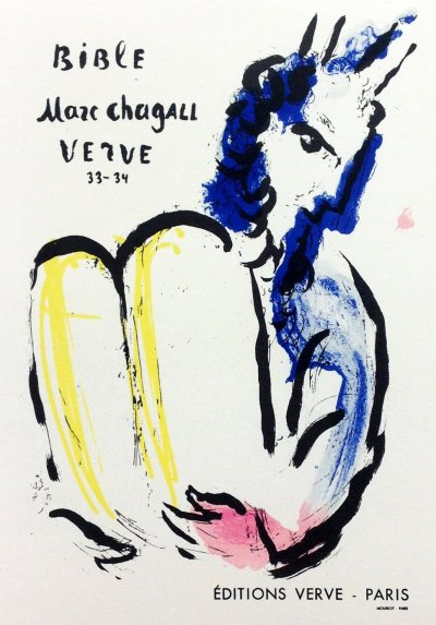 "Chagall 22 ""Bible"" Art in posters Mourlot 1959"
