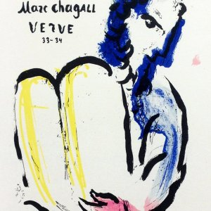 Chagall Lithograph 22, Bible, Art in posters