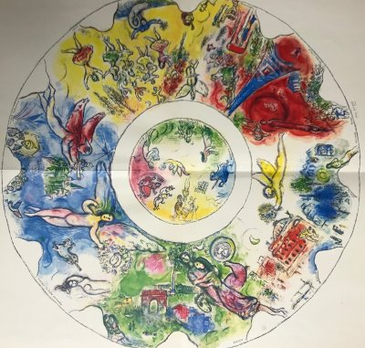 "Chagall ""Plafond"" Print folded as issued - Ceiling of Paris Opera 1966"