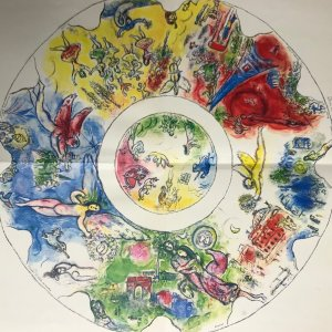 """Chagall """"Plafond"""" Print folded as issued - Ceiling of Paris Opera 1966"""