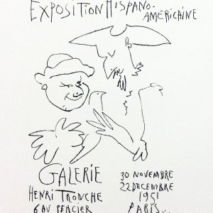 Picasso Lithograph 64, Expo Italiano, Art in posters