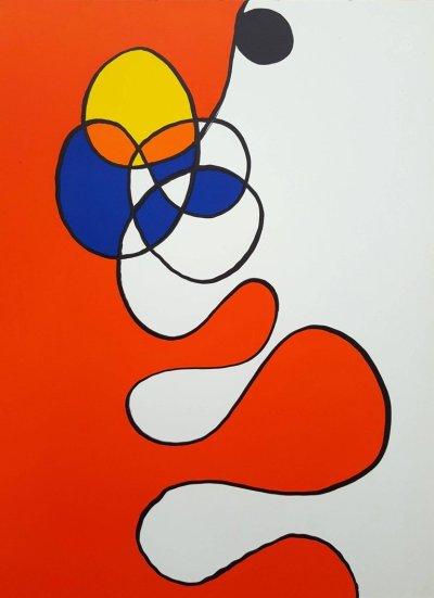 """Calder """"DM53173"""" Original Lithograph 1968"""