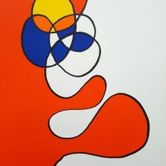 "Calder ""DM53173"" Original Lithograph 1968"