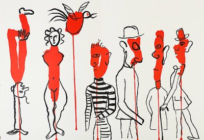 """Calder Original Lithograph """"DM34156"""" printed 1966"""