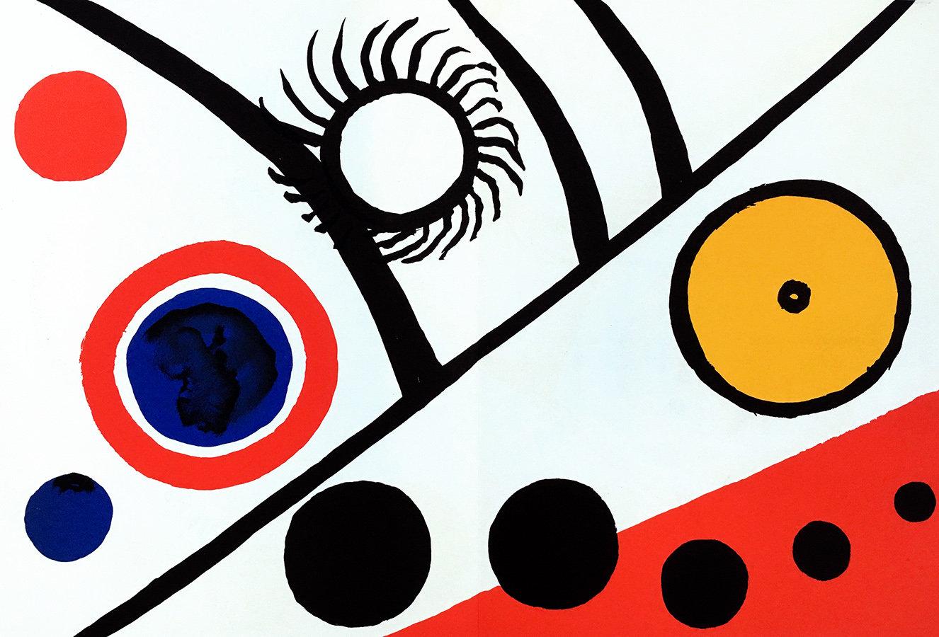 Alexander Calder, Original Lithograph, DM27221d, Derriere le Miroir 1976