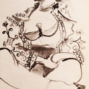 Picasso's Sketchbook Lithograph 2 Dated 21/11/1955