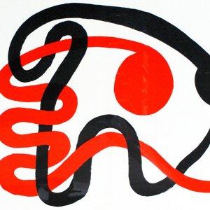 Calder, Original Lithograph, DM49201d, Derriere le Miroir 1973