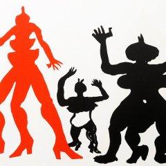 """Alexander Calder Original Lithograph """"DM29212″  size 15×22""""  printed 1975"""