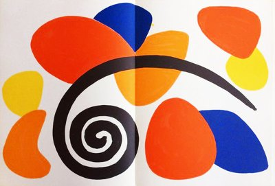 "Calder Original Lithograph ""DM52173"" 1963"