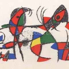 "Joan Miro Original Lithograph ""V2-10d"" Mourlot 1975"
