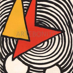 "Calder ""DM47201"" Original Lithograph 1973"