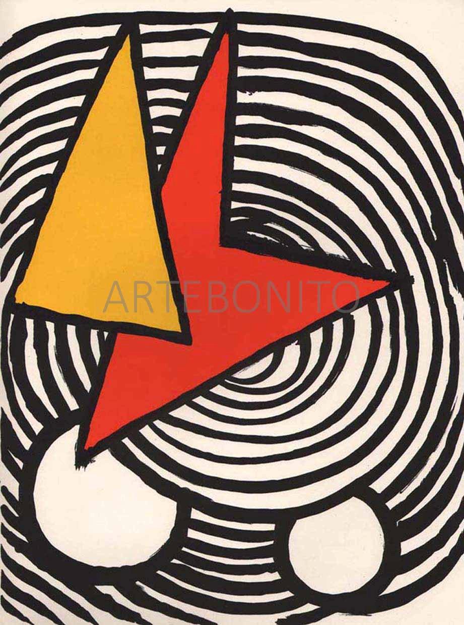 Alexander Calder Lithograph DM47201, Derriere le Miroir 1973