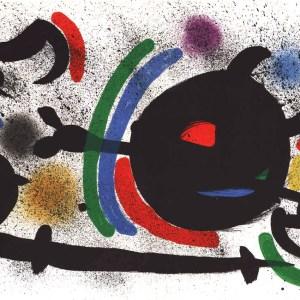 Joan Miro Original Lithograph V1-10d, Mourlot 1970