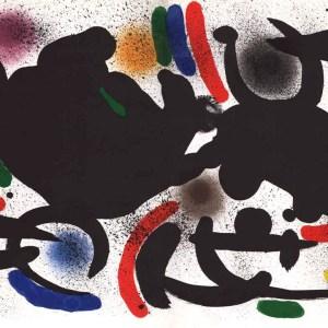 Joan Miro Original Lithograph V1-7d, Mourlot 1970