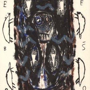 Helene Delprat Original Lithograph, N6-2, 1988