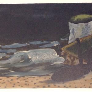 Braque Lithograph La Vague, Varengeville 1968