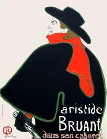 Lautrec Lithograph 10, Aristide Bruant 1966 Mourlot