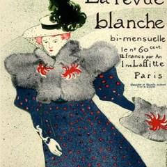 Toulouse Lautrec  Lithograph 17,  La revue blanche, Post-Impressionism,