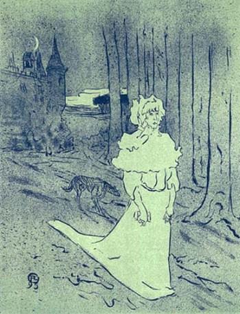 """Lautrec Henri de Toulouse, """"La Chatelaine"""""""