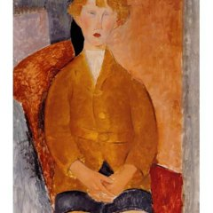 "Amedeo Modigliani ""Boy in short pants 1918"" L.E & numbered Giclee"