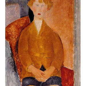 """Amedeo Modigliani """"Boy in short pants 1918"""" L.E & numbered Giclee"""