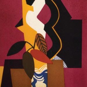 1974 Andre Minaux Lithograph, Bouquet d'automne