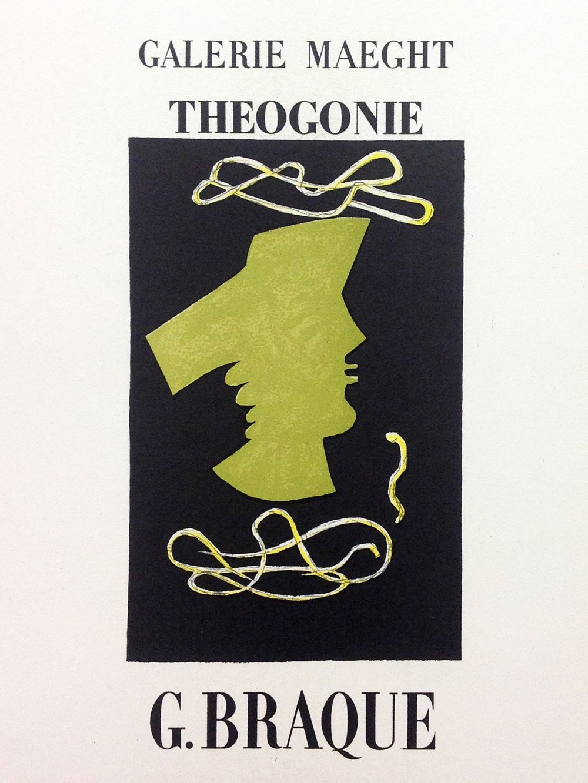 "Braque 5 ""Theogonie"" Mourlot 1959 Art in posters"