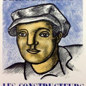 Fernand Leger Lithograph 32 Les constructeurs