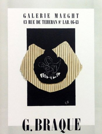 """Braque 1 """"Maeght Galerie 1943"""" Mourlot 1959 Art in posters"""
