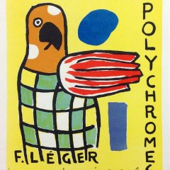 """Leger 33 """"Sculptures polychromes"""" Art in posters printed 1959 Mourlot"""